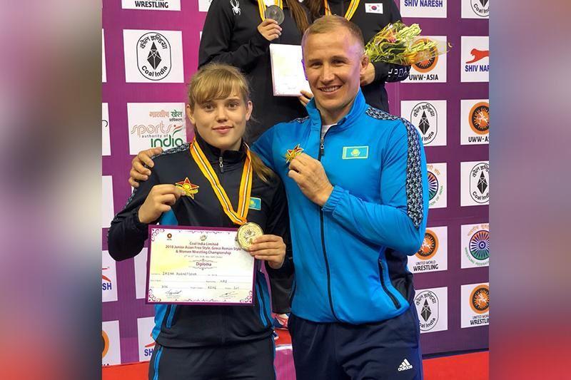 Казахстанка взяла «золото» на чемпионате Азии по борьбе