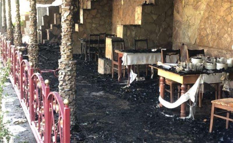 Кафе охватило огнем в Туркестанской области