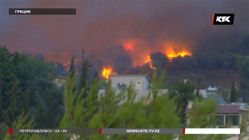 В Греции люди гибнут в лесных пожарах
