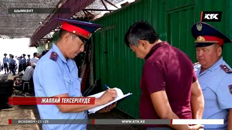 Астана мен Шымкенттің көлік базарларын полицейлер қоршауға алды
