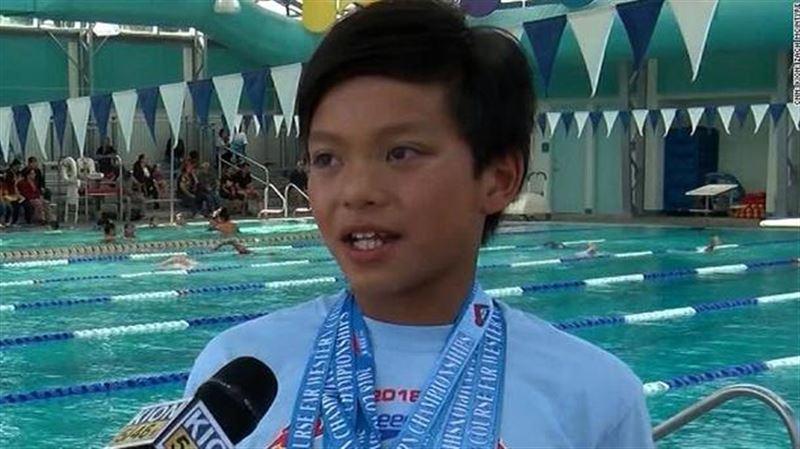 Рекорд 23-кратного олимпийского чемпиона по плаванию побил 10-летний мальчик