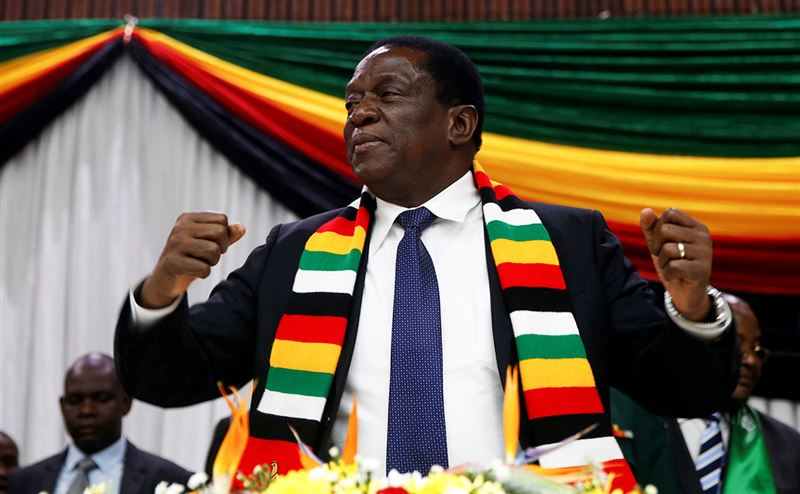 На президентских выборах в Зимбабве переизбран Эммерсон Мнангагва