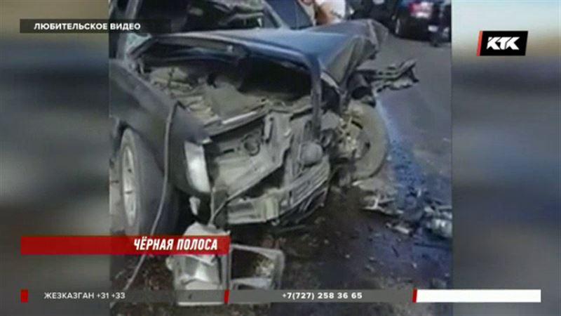 На трассе Жамбылской области погибли люди