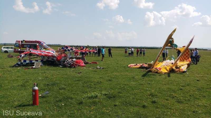 В небе Румынии столкнулись два самолета, один пилот погиб
