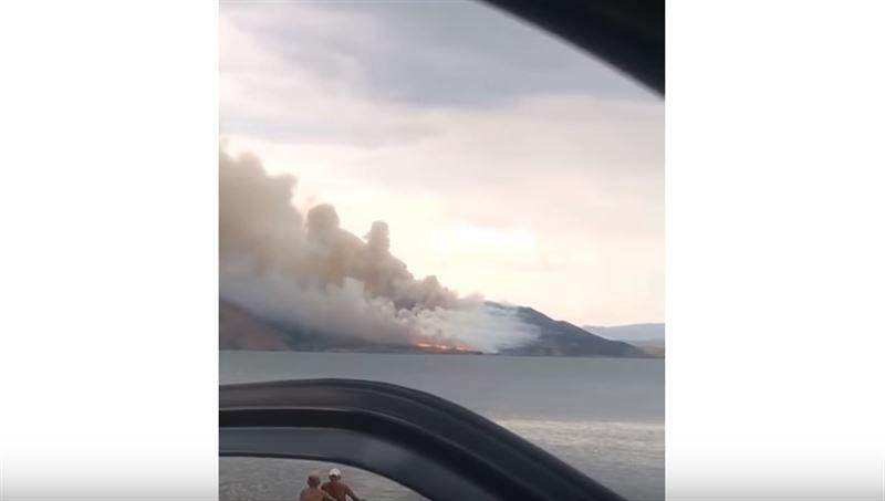 ВИДЕО: Бұқтырма су қоймасында алапат өрт шықты