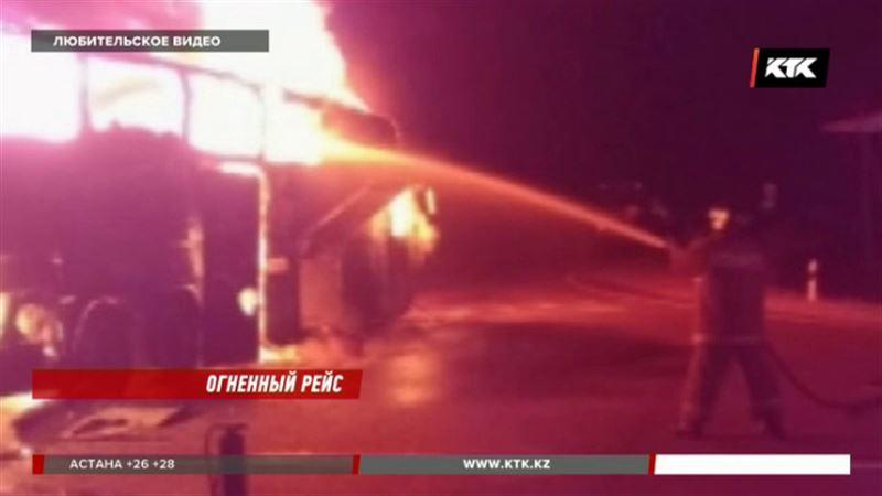 Автобус, в котором чуть не сгорели казахстанцы, принадлежал российскому перевозчику