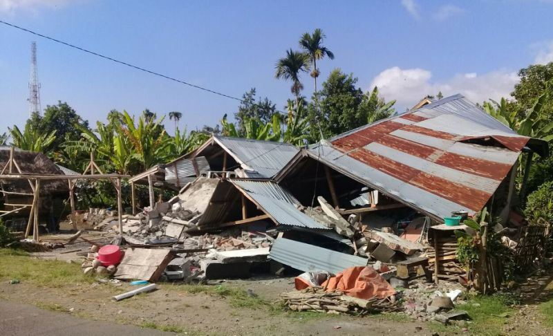 Остров Ломбок в Индонезии снова тряхнуло