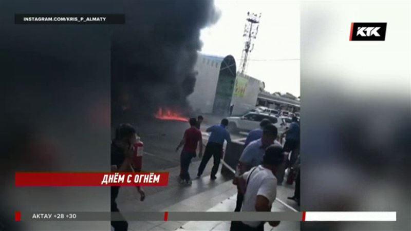 Алматинская барахолка снова горела