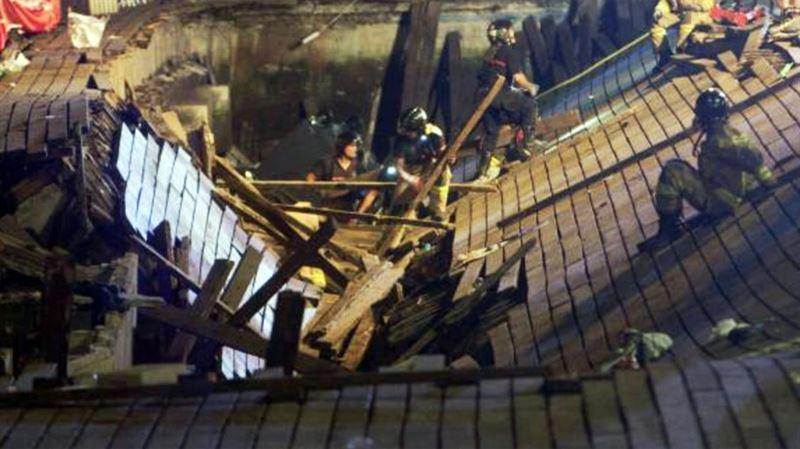 В Испании более 260 человек пострадали при обрушении пирса на концерте