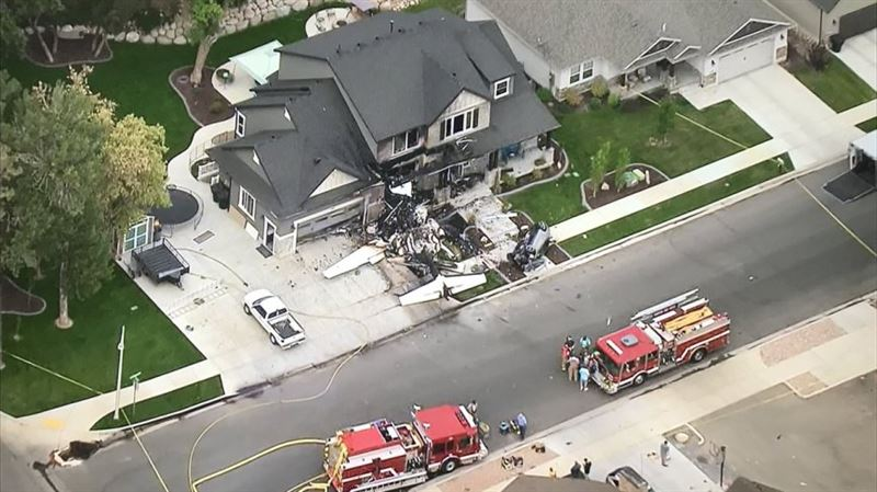 Американец из мести жене врезался самолетом в свой дом