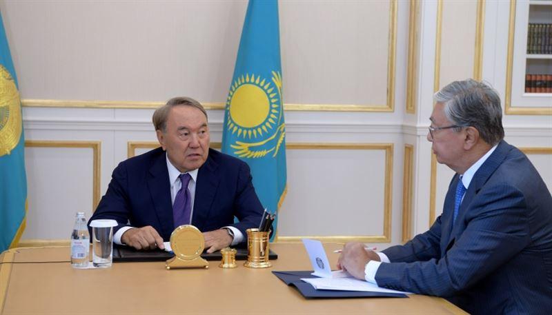 Президент обсудил с Токаевым план работ на предстоящую парламентскую сессию