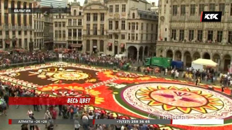 Брюссельская площадь зацвела
