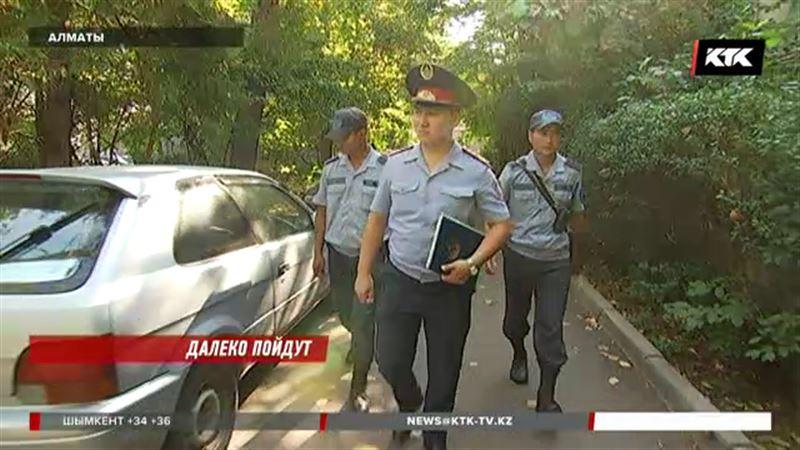 Полицейские Алматы будут ходить пешком