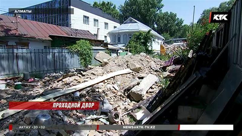 У алматинцев снесли дом, несмотря на наличие документов