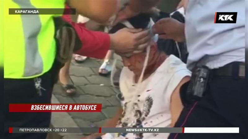 В Караганде кондуктор избил пассажира до крови