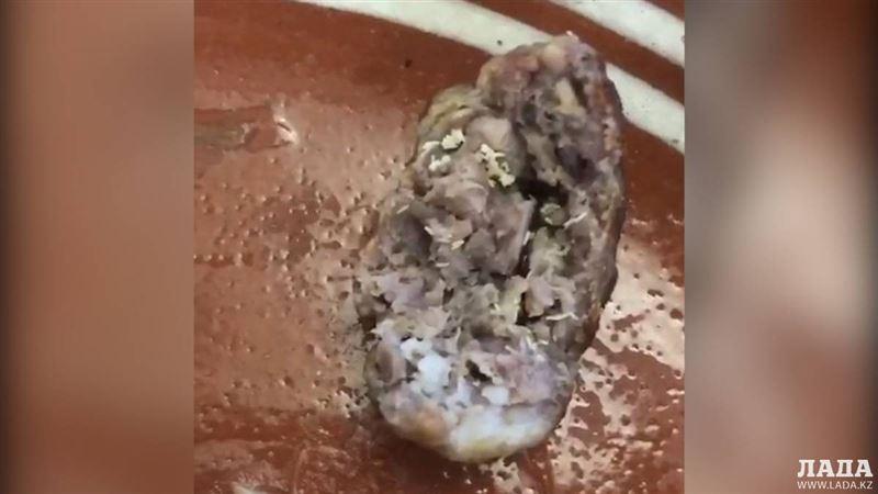 Люля-кебаб с червями подали в кафе жительнице Актау