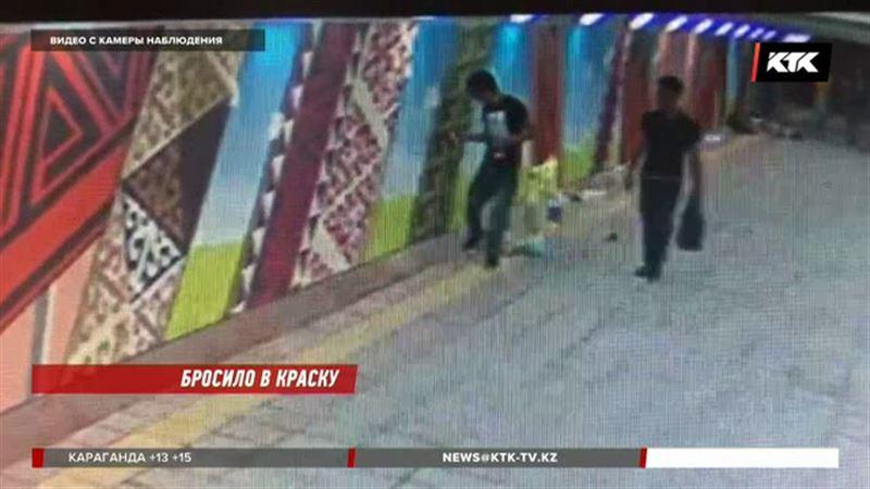 Вандалы портят отремонтированные подземные переходы в Алматы