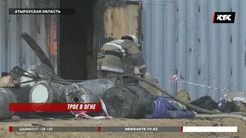 Трое мужчин сгорели в заброшенном здании