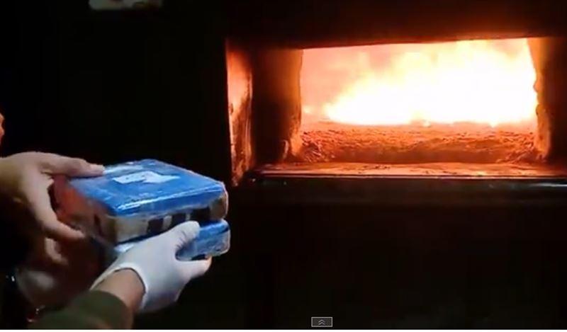 Полиция Аргентины сожгла почти 400 кг кокаина, найденного в российском посольстве