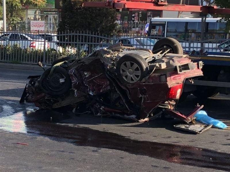 Страшная авария произошла в Шымкенте