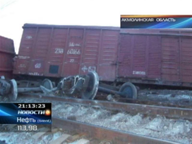 В Акмолинской области сошли с рельсов вагоны с мукой