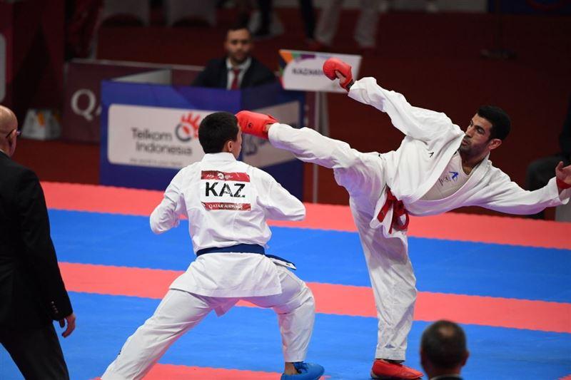 Казахстанский каратист Дидар Амиралиев завоевал серебряную медаль на Азиаде-2018