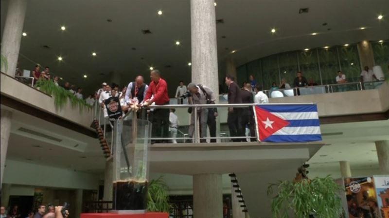 ВИДЕО: Куба коктейльден әлемдік рекорд орнатпақшы