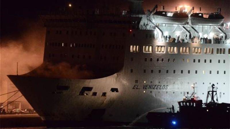 В Греции эвакуировали более тысячи человек из-за пожара на пароме