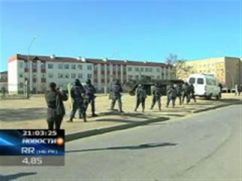 В здании актауской школы проводили антитеррористические учения