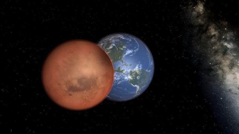 Ученые из США предложили взорвать Марс и переместить Землю на его место