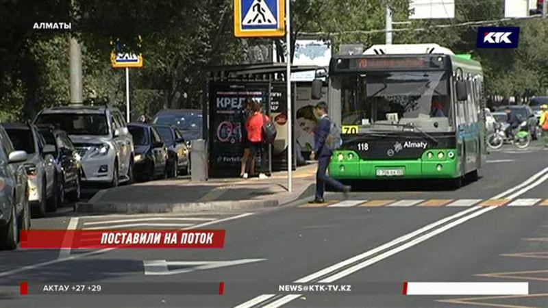 Пешеходы и автобусы в приоритете – в Алматы запустили скоростную линию БРТ