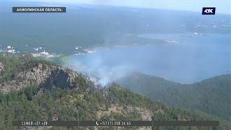 Больше 3 000 квадратных метров горело в нацпарке курорта Боровое