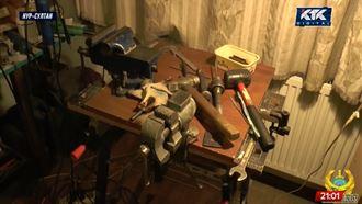 Гранаты, пулеметы, автоматы: в Алматы накрыли подпольный оружейный цех