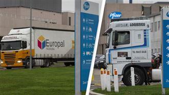 Сфотографированы грузовики с первыми партиями вакцины от коронавируса