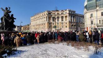 Проезжую часть блокируют участники незаконных акций в Москве