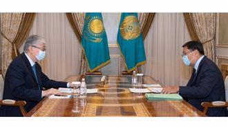 Президент принял главу Национального банка