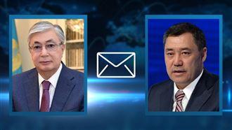 Глава государства поздравил лидера Кыргызстана